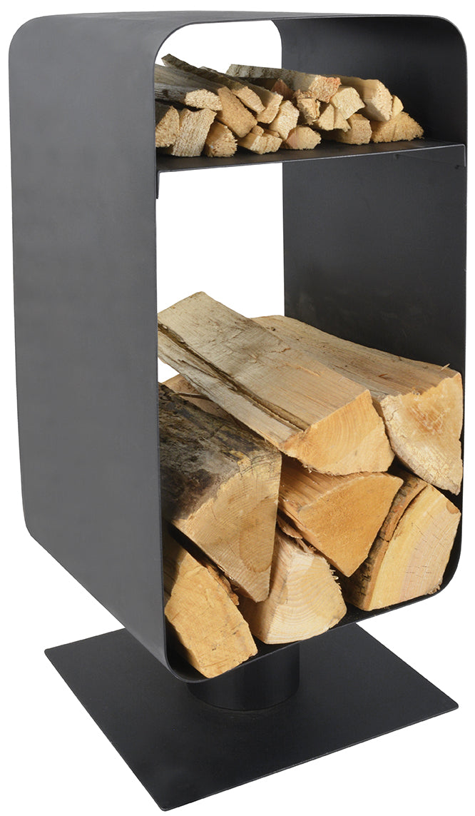 Manor 0376 Black Nordic Log Holder