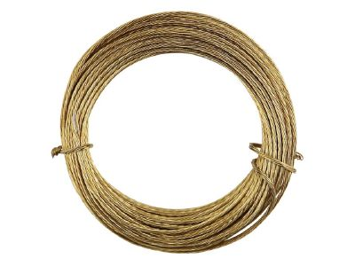 X 12834 3m No.1 Brass Picture Wire