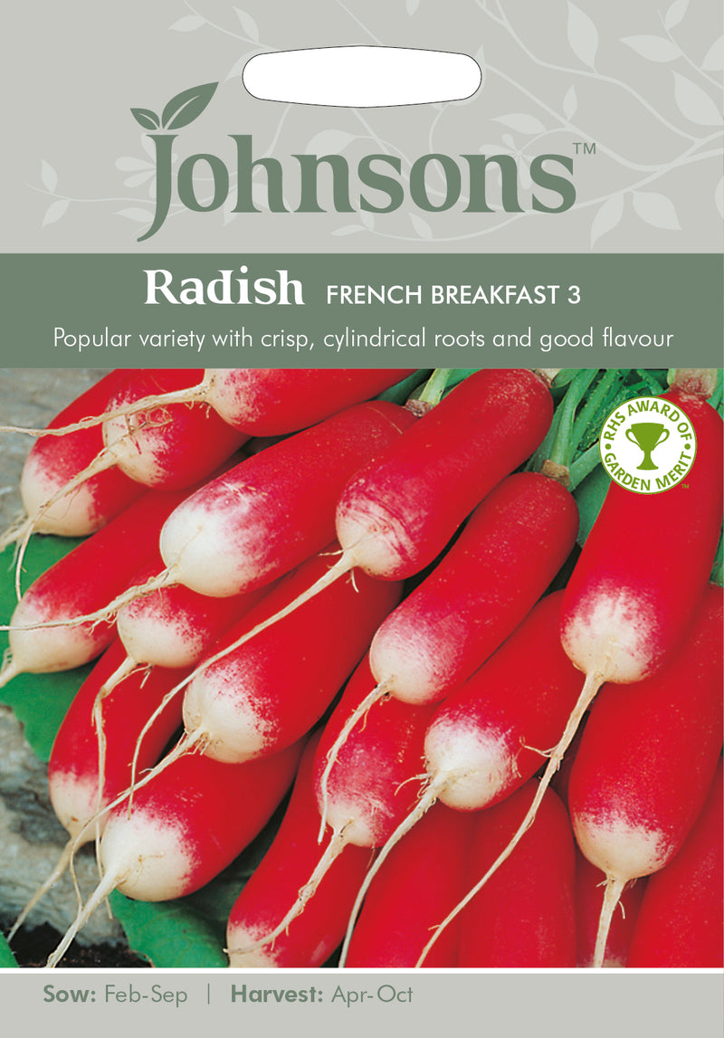 Johnsons 121002 Raphanus sativus - Radish French Breakfast 3