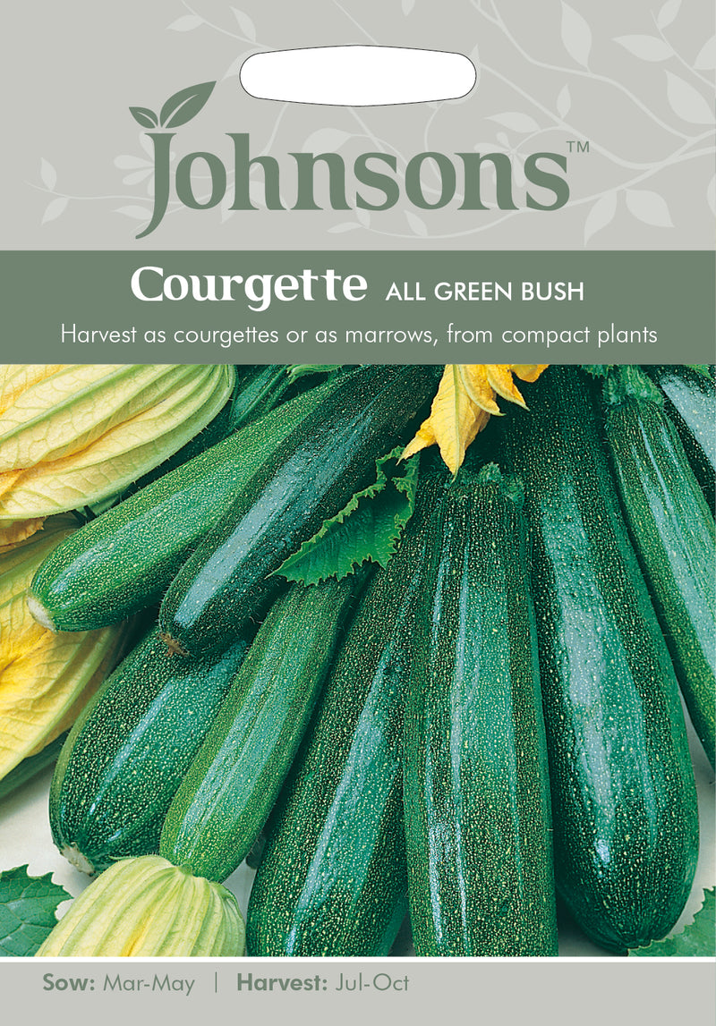 Johnsons 121018 Cucurbita pepo - Courgette All Green Bush