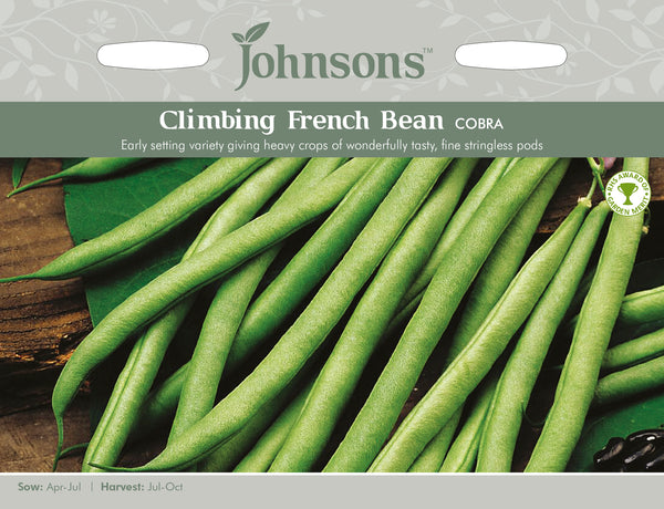 Johnsons 121038 Phaseolus vulgaris - Climbing Bean Cobra