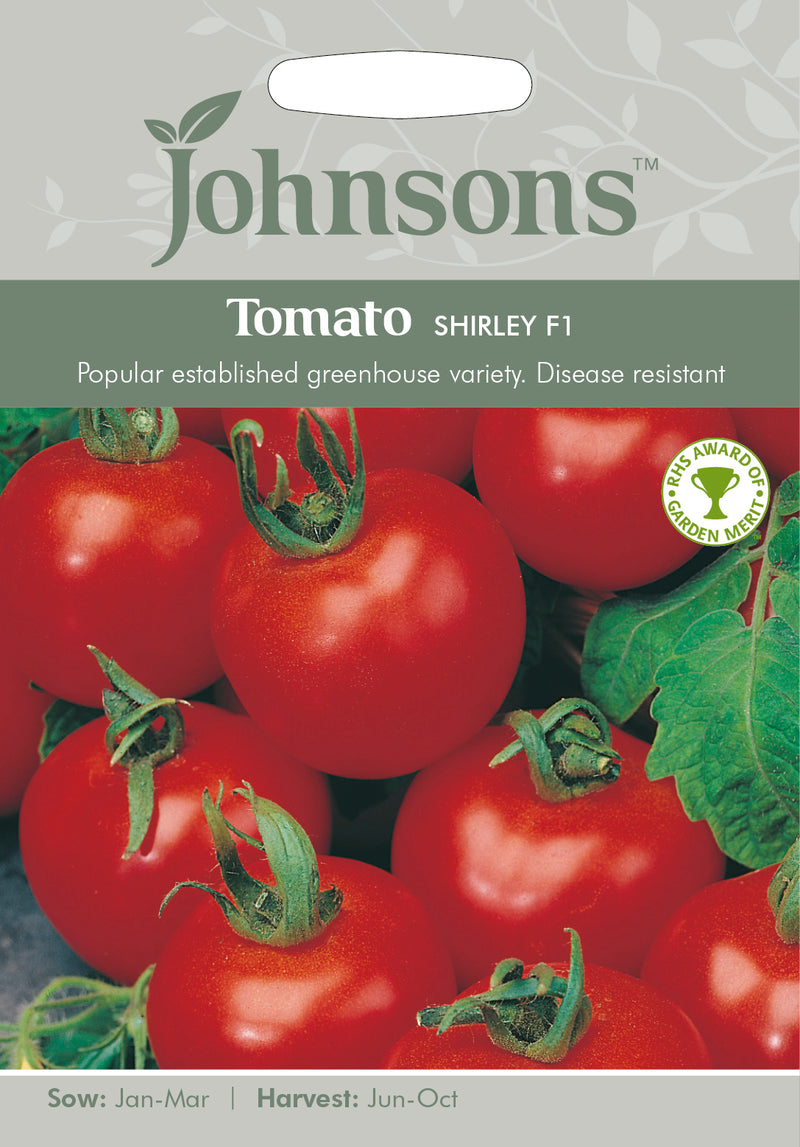 Johnsons 121054 Lycopersicon lycopersicum - Tomato Shirley F1