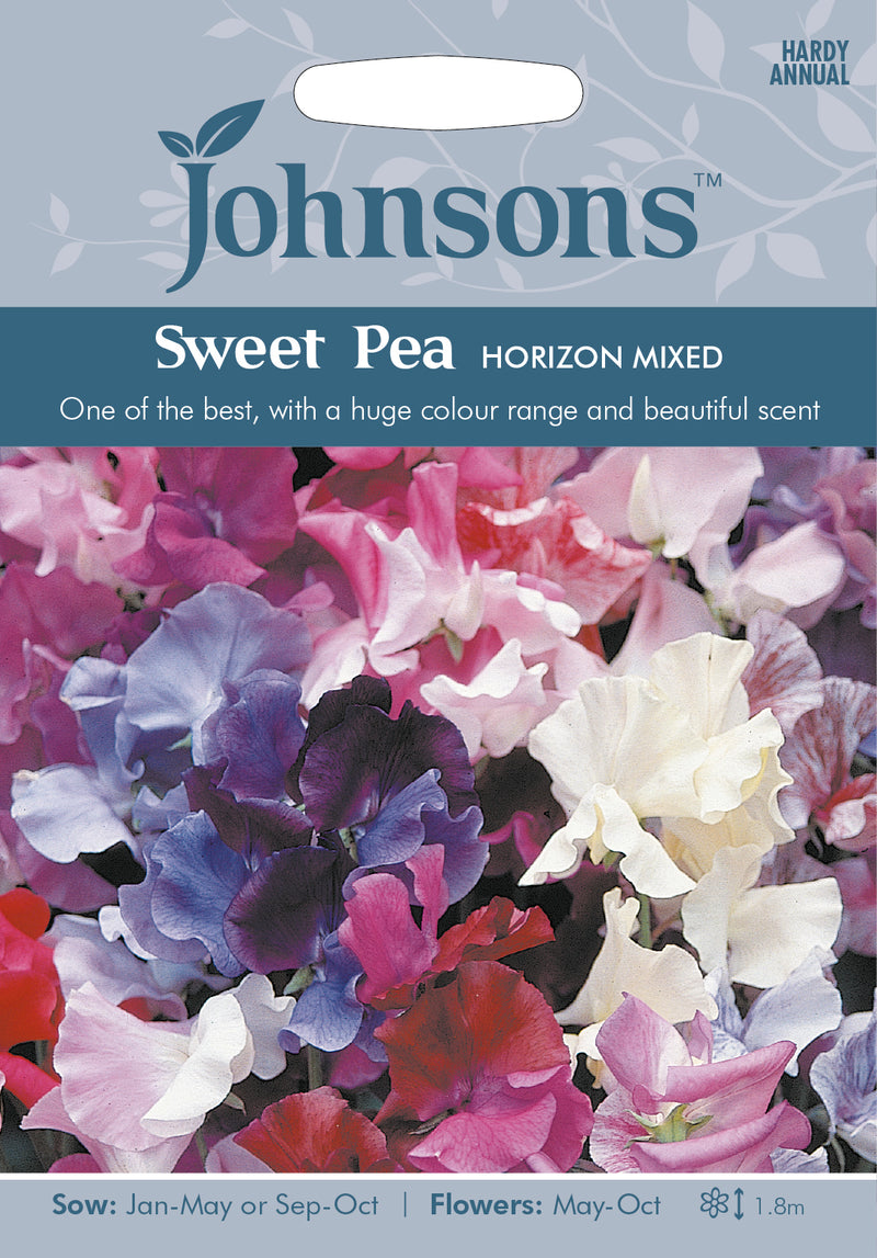 Johnsons 121059 Lathyrus odoratus - Sweet Pea Horizon Mixed