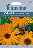 Johnsons 121070 Calendula officinalis - Calendula 'Pot Marigold' Nova