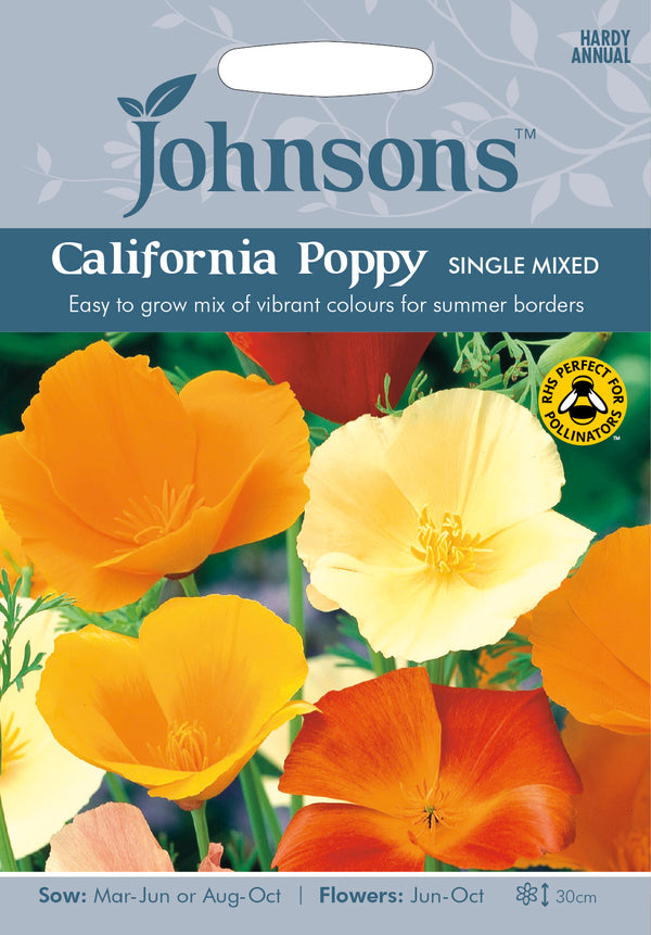 Johnsons 121073 Eschscholzia californica - California Poppy Single Mixed
