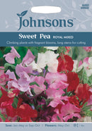 Johnsons 121160 Lathyrus odoratus - Sweet Pea Royal Mixed