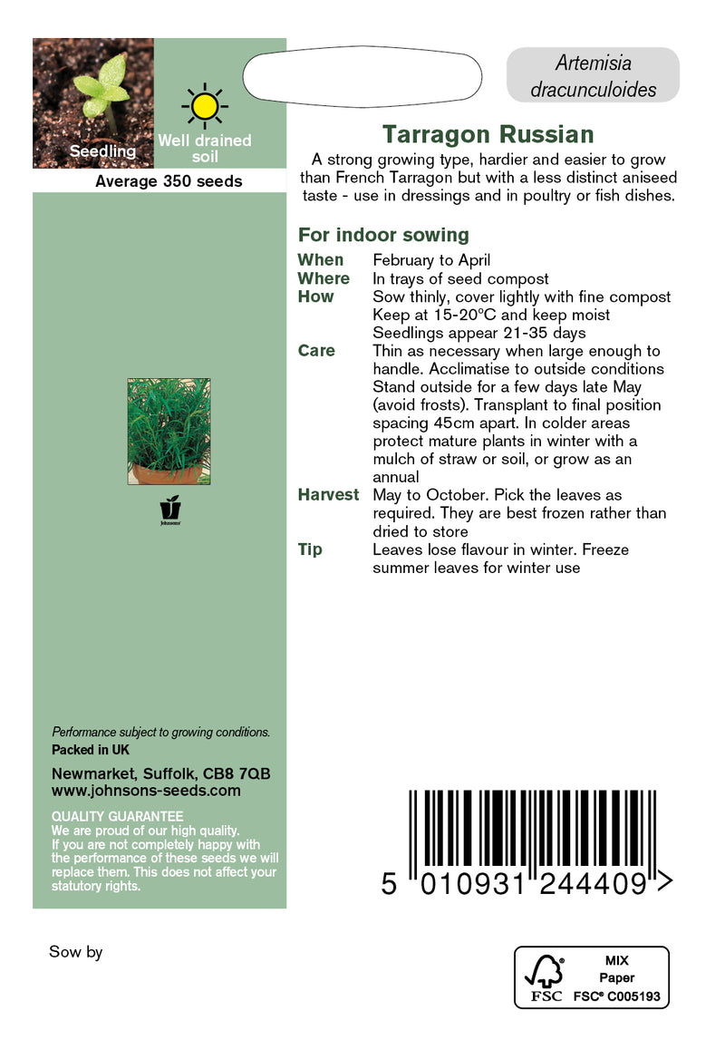 Johnsons 121170 Artemisia dracunculoides - Russian Tarragon