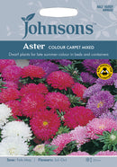 Johnsons 121314 Callistephus chinensis - Aster Colour Carpet Mixed