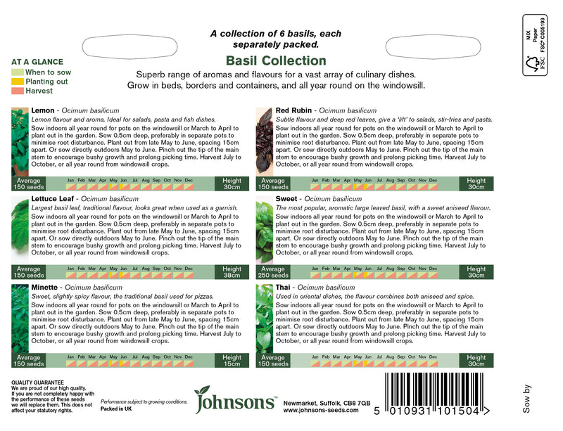 Johnsons 121352 Herb Basil Collection