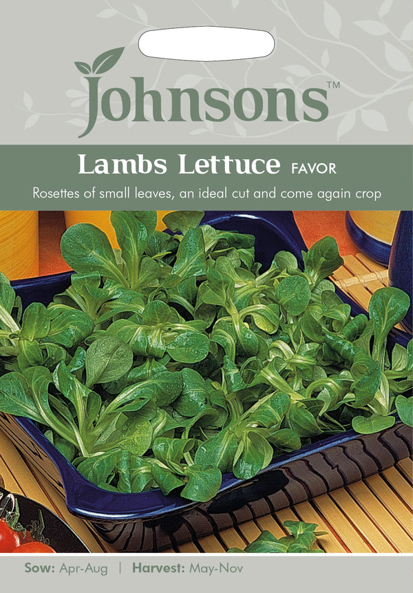 Johnsons 123580 Lambs Lettuce Favor Seeds