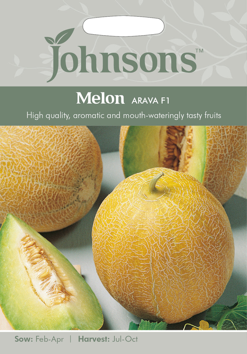 Johnsons 123585 Cucumis melo - Melon Arava F1