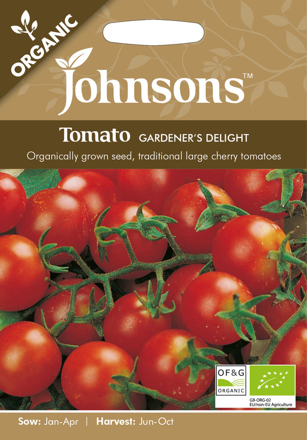 Johnsons 123598 Lycopersicon lycopersicum- Gardener's Delight (Organic) Tomato Seeds