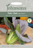 Johnsons 123600 Brassica rapa Chinensis- Pak Choi Red Choi F1 - Salad