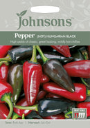 Johnsons 123603 Capsicum annuum- Pepper (Hot) Hungarian Black