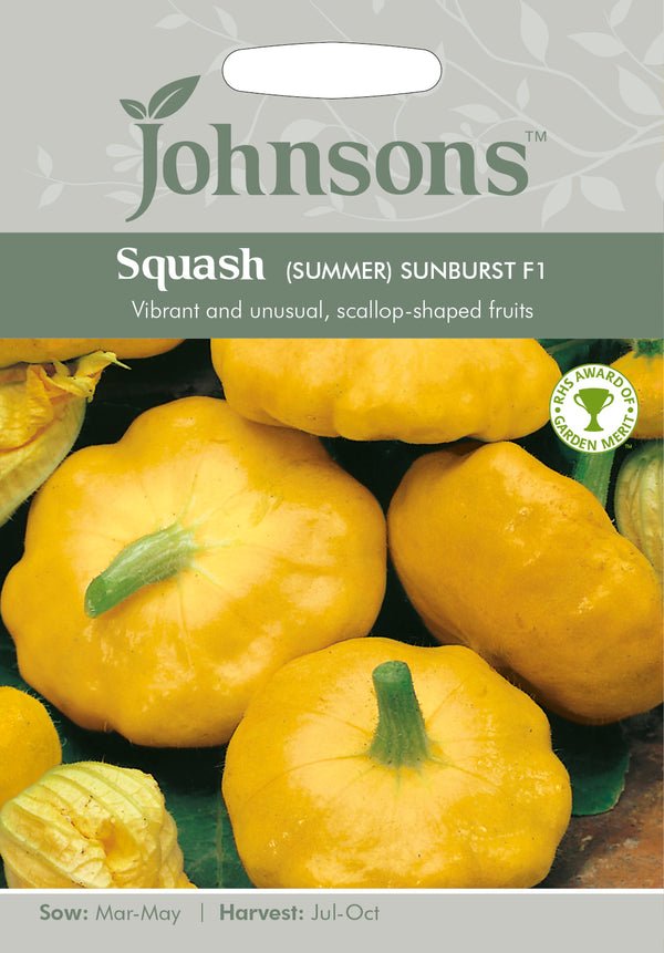 Johnsons 123617 Cucurbita pepo - Squash (Summer) Sunburst F1