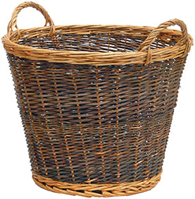 Manor 1355 Large 2 Tone Willow Log Basket NORFOLK DELIVERY ONLY
