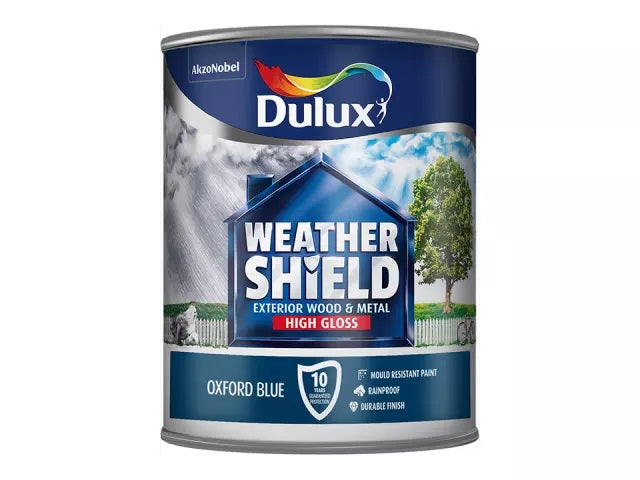Dulux Weathershield Exterior Gloss Oxford Blue 750ml 5090988