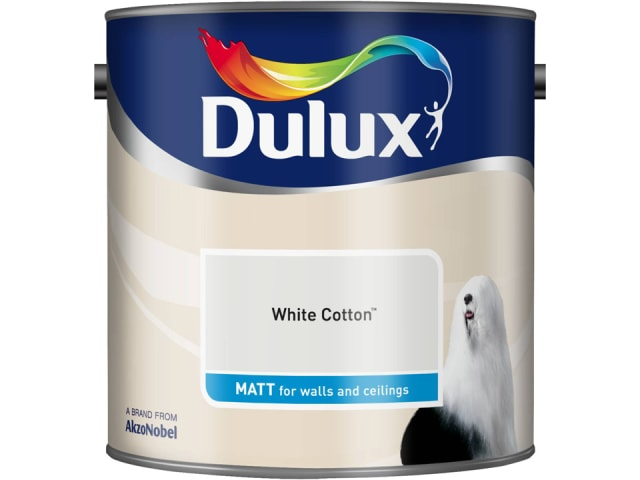 Dulux 5091856 Rich Matt White Cotton 2.5L