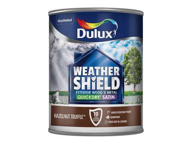 Dulux Weathershield Exterior Satin Hazelnut Truffle 750ml 5091524
