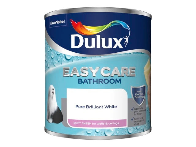 Dulux 5092174 Easycare Bathroom Pure Brilliant White 1L
