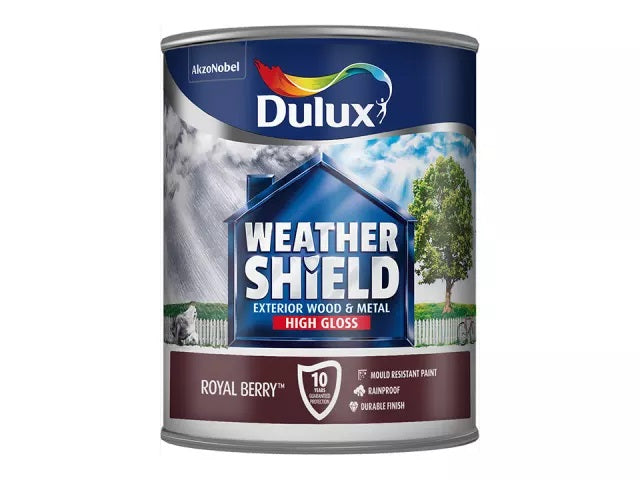 Dulux Weathershield Exterior Gloss Royal Berry 750ml 	5213546