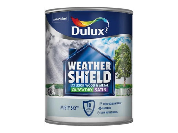 Dulux Weathershield Exterior Quick Dry Satin Misty Sky 750ml 5213581