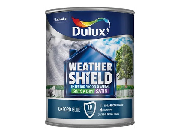 Dulux Weathershield Exterior Quick Dry Satin Oxford Blue 750ml 5122156