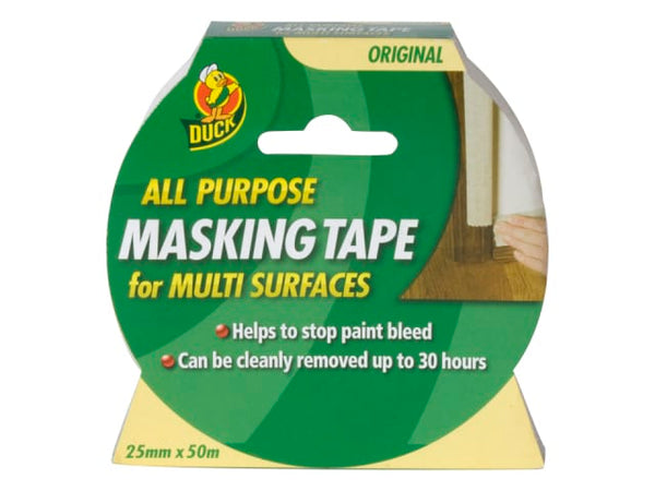 Duck All Purpose Masking Tape 25mm x 50m 232317