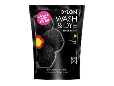 Dylon 2044388 Wash & Dye Velvet Black