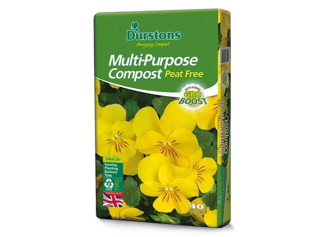 Durstons Peat Free Compost 40L - NORFOLK DELIVERY ONLY