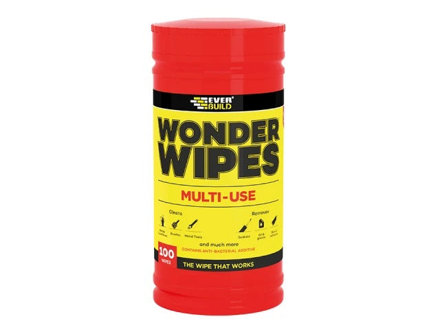 Everbuild Multi-use Wonder Wipes Tub x 100  Anti Bacterial