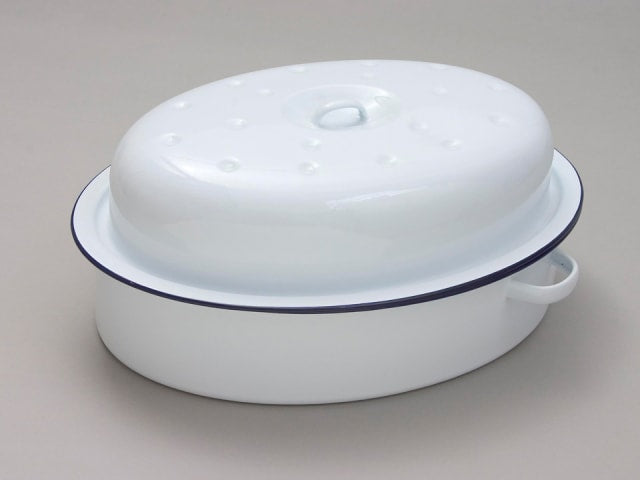 Falcon Oval Roaster White 36cm