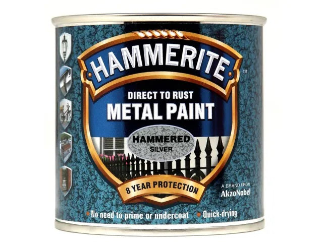 Hammerite Metal Metal Hammered Silver 250ml 5084798