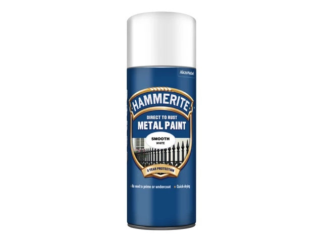 Hammerite Smooth Finish Aerosol White 400ml 5084782