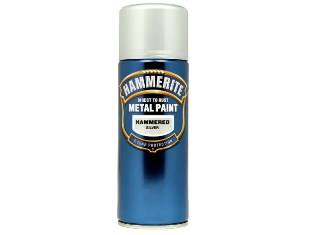 Hammerite Hammered Finish Aerosol Silver 400ml