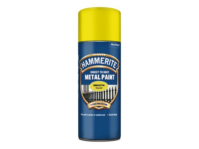 Hammerite Smooth Finish Aerosol Yellow 400ml 5092968