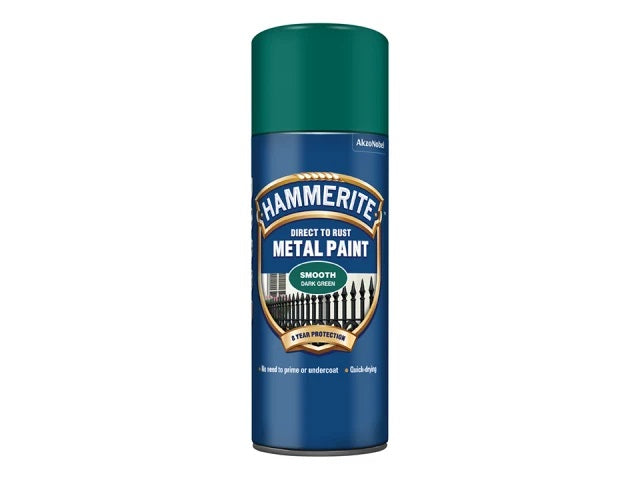 Hammerite Smooth Finish Aerosol Dark Green 400ml 5092821