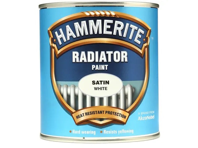 Hammerite Radiator Enamel Satin White 500ml