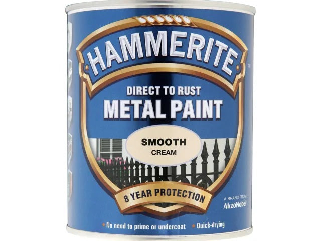 Hammerite Metal Smooth Cream 250ml 5122058