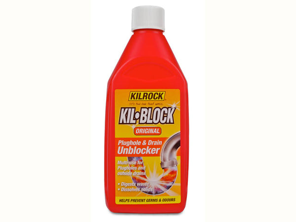 Kilrock Kil-Block Drain & Plug Unblocker 500 ml