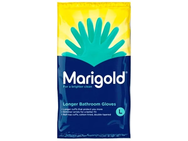 Marigold Longer Bathroom Gloves Medium Green