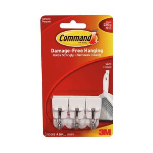 3M Command Small Wire Hooks 17067