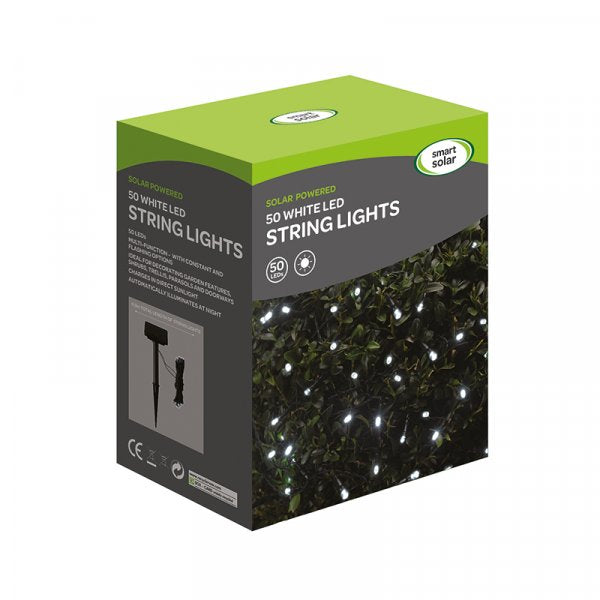 Smart Solar Solar Strings 50 Cool White LEDs