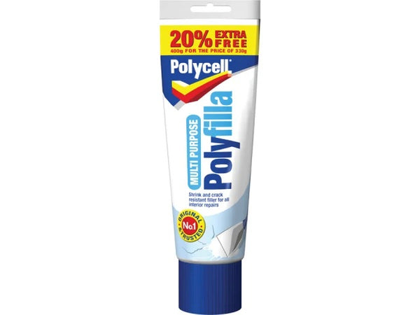 Polycell Multi Purpose Polyfilla Tube 330g + 20% (400g)