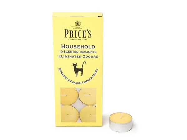 Prices Household Pet Yellow Scented Tealights Pack of 10 FR251016