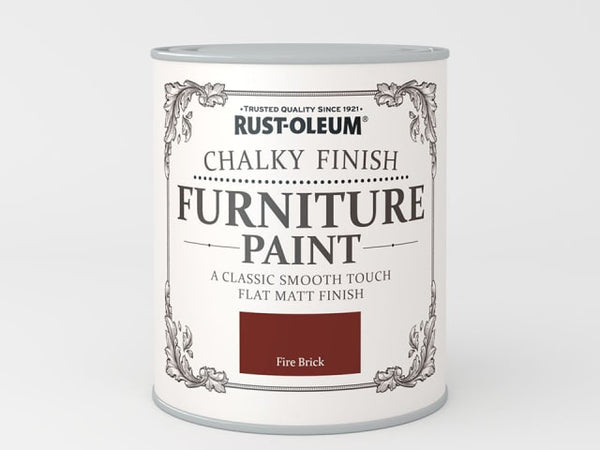 Rustoleum Chalk Furniture Paint Fire Brick