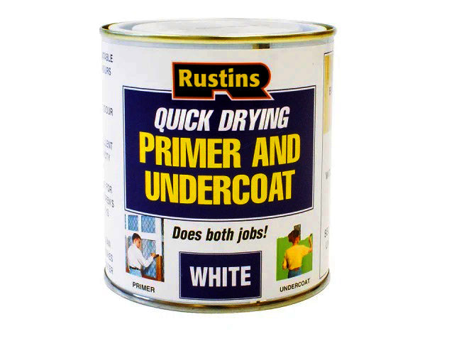 Rustins Quick Dry Primer and Undercoat White 1 Litre