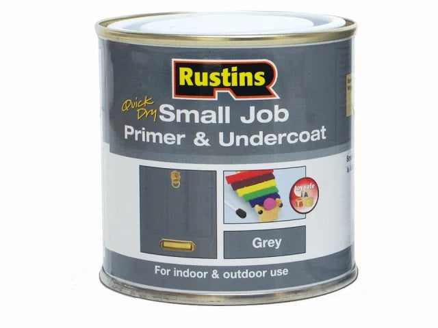 Rustins Quick Dry Small Job Primer & Undercoat 250ml Grey