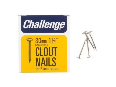 Challenge 12030 Galvanised Clout Nails 30mm