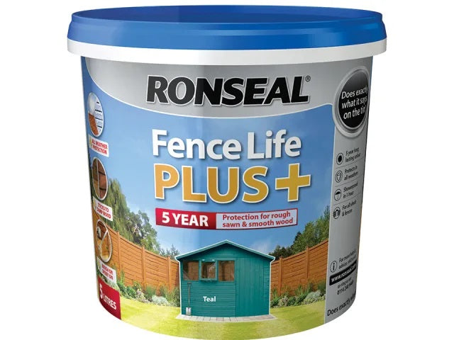 Ronseal Fence Life Plus Teal 5 Litres